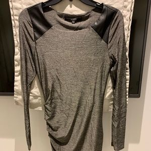 Guess Long Sleeve Grey Bodycon Dress